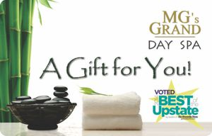 Buy Gift Certificate from MG's GRAND Day Spa in Greenville, SC