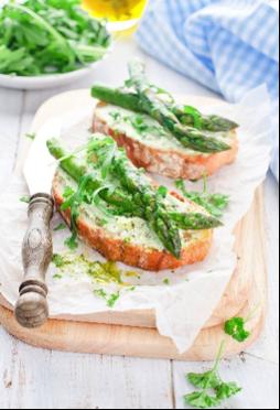 Asparagus Prosciutto Bruschetta Recipe