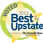Voted Best of the Upstate in 2012