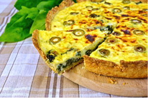 Spinach Quiche with Quinoa Crust