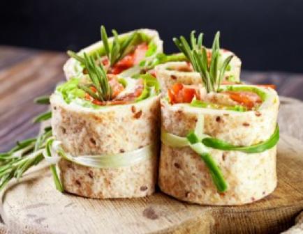 Recipe for Turkey Tomato Wraps