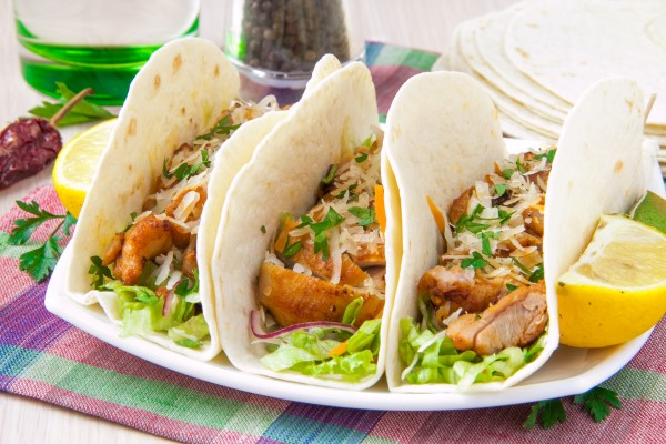 Recipe:  Grilled Buffalo Chicken Tacos